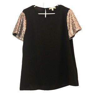 Banana Republic Blouse with Sequin Sleeves